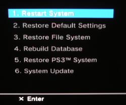 ps3 recovery menu rh semperthree com XMB Menu PlayStation Network XMB Menu PlayStation Network